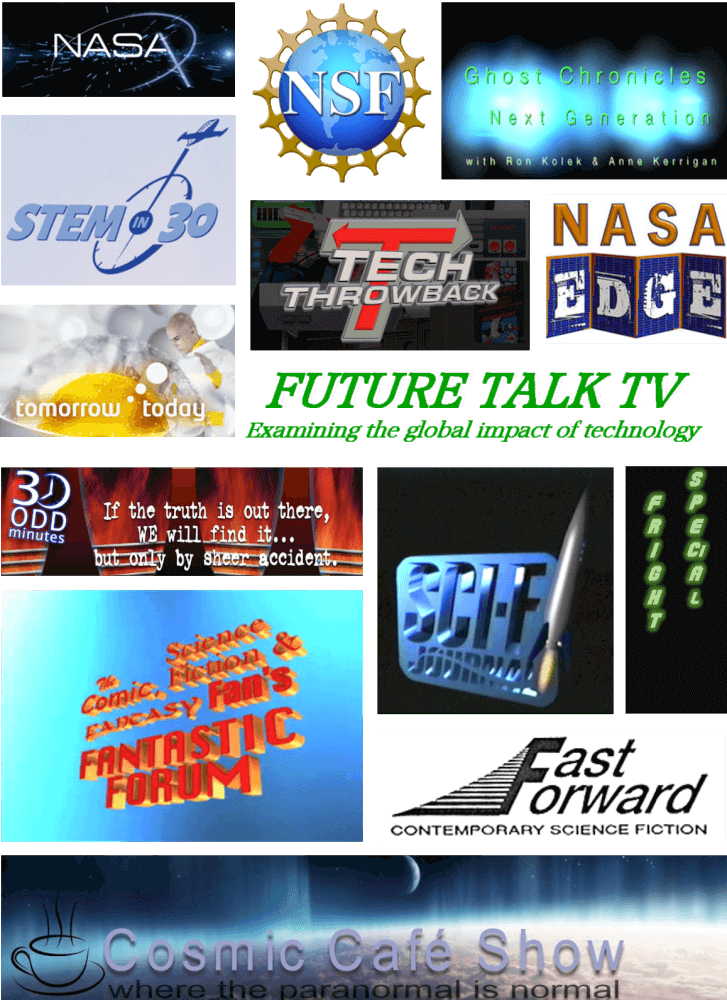 Graphic images of all science and sci-fi programs